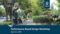 Afternoon presentation: performance-based design workshop