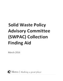 Solid Waste Policy Advisory Committee Finding Aid