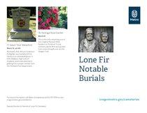 Lone Fir Notable Burials Tour