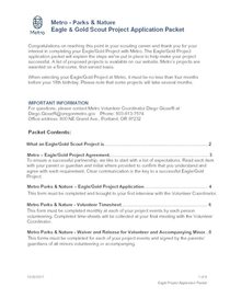 Eagle and Gold Scout project application