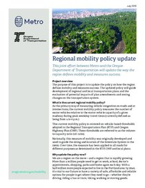 Regional mobility policy update factsheet