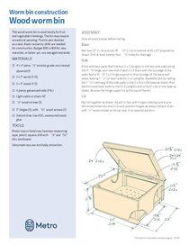 Worm bin construction plans