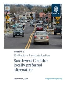 Appendix N - Southwest Corridor locally preferred alternative