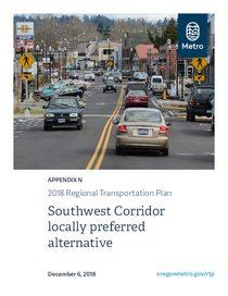 Appendix N - Southwest Corridor locally preferred alternative