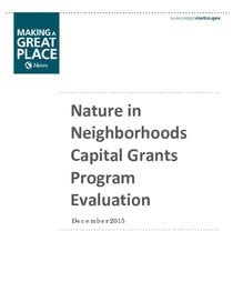 Capital Grants Program Evaluation