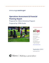 Operations assessment and financial planning report