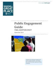 Metro public engagement guide