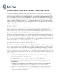 2040 Grant Application Information