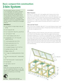 Basic compost bin construction and worm bin construction