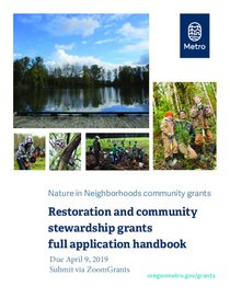 2019 Full application handbook: restoration and community stewardship grants
