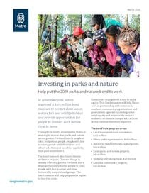 Parks and Nature bond info sheet