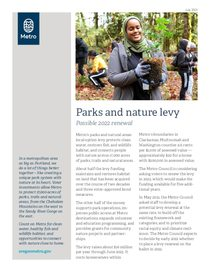 Parks and Nature levy fact sheet
