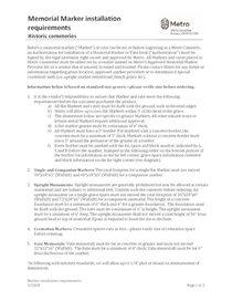 Memorial Marker installation requirements