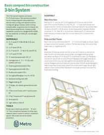 Cómo construir un contenedor para compostaje – solo en inglés