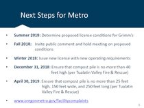 Next steps and statement from Jeff Grimm: July 19, 2018