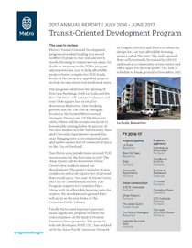 Transit-Oriented Development 2017 Annual Report