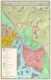 Tryon Creek Cove trail connection built conditions map