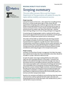 Scoping summary