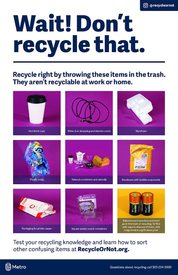 Wait! Don't recycle that – English poster
