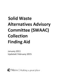 Solid Waste Advisory Committee Finding Aid