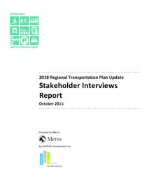 Stakeholder Interviews Report