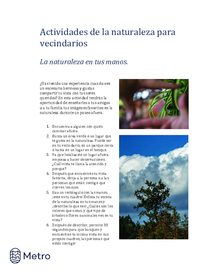 Nature activities for neighborhoods - Spanish