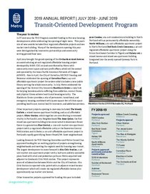 Transit-Oriented Development Program 2019 Annual Report