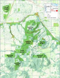 East Buttes map