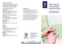 Eliminación segura de residuos sanitarios cortantes del hogar – versión en inglés