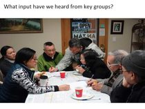 Presentation on feedback from key groups