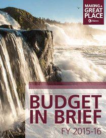 FY 2015-16 budget in brief