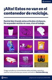 Wait! Don't recycle that – Spanish poster