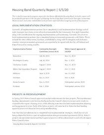 Housing bond quarterly progress report: January to March 2020