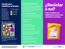 Recycle or Not brochure – Spanish