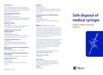 Safe disposal of medical syringes: sharps container exchange program