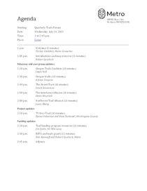 Meeting agenda July 14, 2021