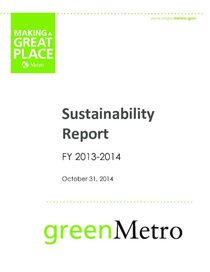 2013-14 Sustainability Report