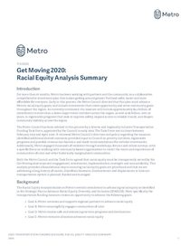 Get Moving 2020 Racial Equity Analysis Summary