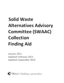 Solid Waste Alternatives Advisory Committee Finding Aid