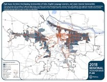 2018 regional high injury corridors map