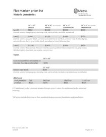Flat marker price list