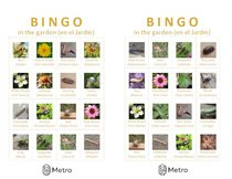 Garden bingo cards I and J
