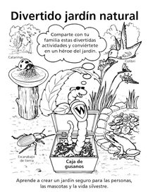Spanish natural gardening activity sheets