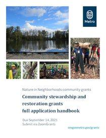 2021 Community Stewardship and Restoration Grants Full Application Handbook