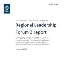 Regional Leadership Forum 3 report with attachments