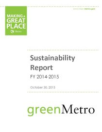 2014-15 Sustainability Report