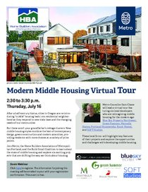 Modern Middle Housing virtual tour event flyer