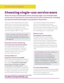 Choosing single-use service ware