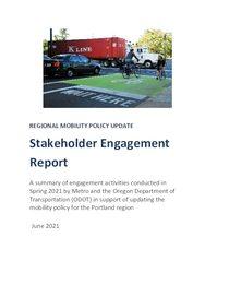 Stakeholder Engagement Report - Spring 2021