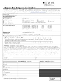 Substitute W-9 form